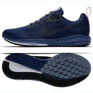 cheap for discount 26a00 dd56f Details about Nike Air Zoom Structure 21 Shield 907324-400 Binary Blue/Grey  Men Running Shoes