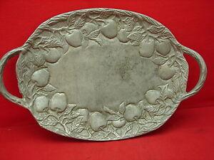 Joli ancien plat en aluminium- décor pommes- 1930- art déco TZ4FjJSe-07214851-860746017