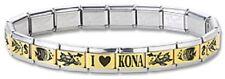 New Italian Charm Bracelets Stainless Steel Gold Link Fish Modular I Heart Kona