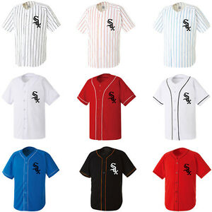 Chicago White Sox Stripe Baseball Slim Jersey Dry fit shirts Sport ... 2d4ba8d2d