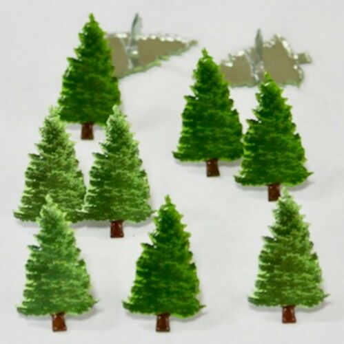 FIR PINE TREE BRADS Winter Christmas Scrapbooking Card Making Stamping