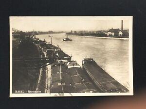 Postcard-Antique-1924-Netherlands-Basel-Rheinhafen