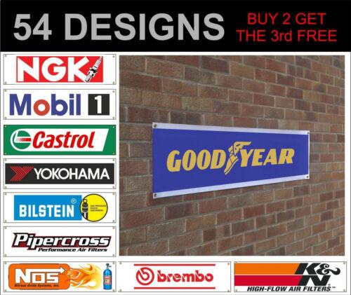 K&N Nos Brembo EBC ferodo hks banner sign workshop garage track advertisement