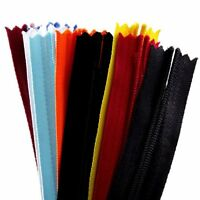20pcs 18 Inch Assorted Color Invisible Zippers Closed Sewing Craft Zipperstop