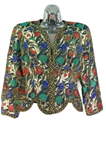 VICTOR COSTA for Neiman Marcus vtg 1970s floral me