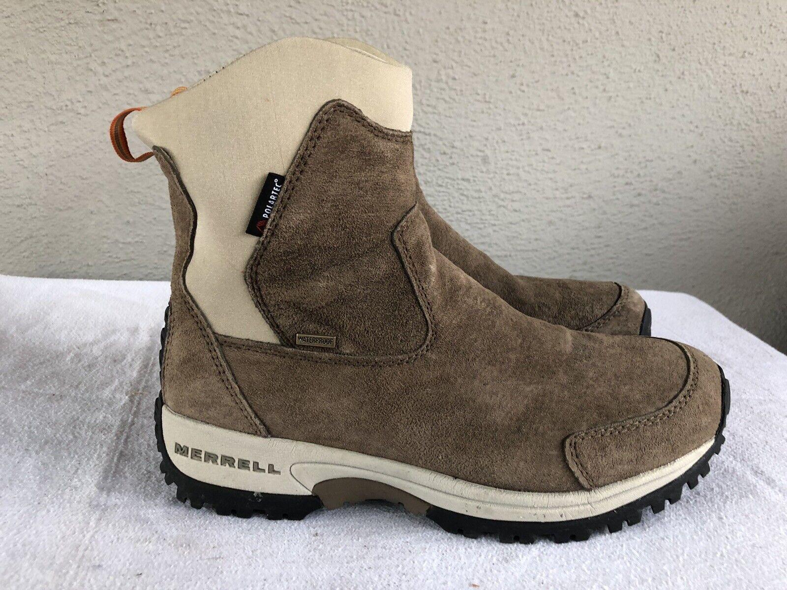 Menta Mujeres Merrell Tundra US 9.5 Oscuro Taupe botas De Gamuza POLARTEC THINSULATE B