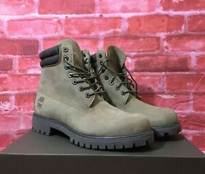 Details about TIMBERLAND WATERPROOF MENS 6 INCH DOUBLE COLLAR BOOT OLIVE NUBUCK 0A1WW7 Q69