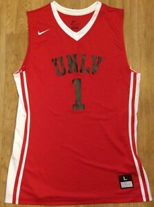 New Nike Men Lg UNLV Runnin Rebels National Varsity Basketball Jersey Red White