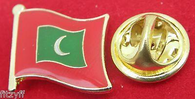 Maldives Flag Lapel Tie Pin Badge Dhivehi Raajjeyge Jumhooriyya Islands Brooch
