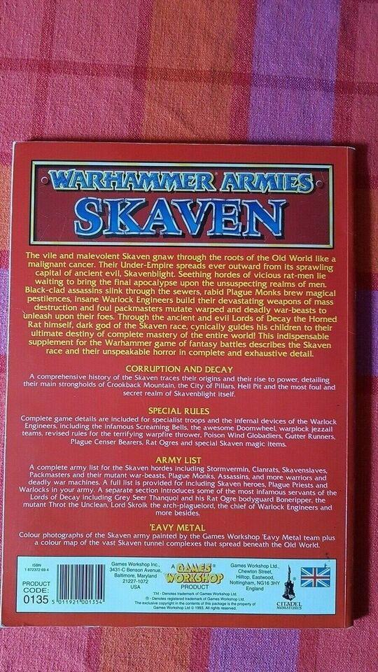 Rollespil, Warhammer Armies Skaven, Games Workshop