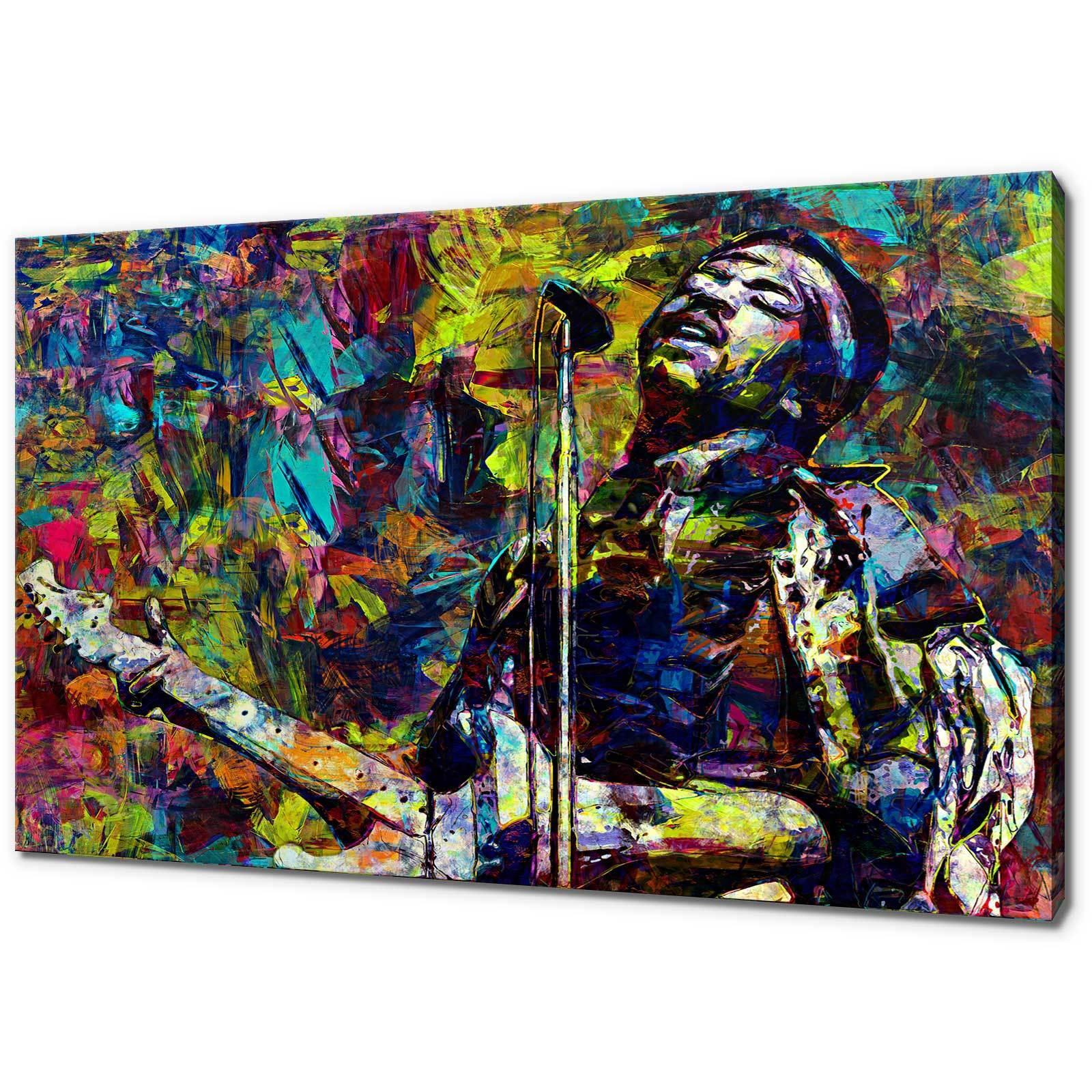 Jimi HENDRIX Foto Su Tela Stampa Coloreeata Wall Art libero consegna veloce
