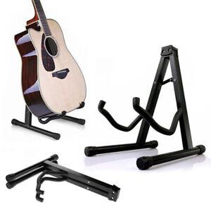 Folding-Guitar-Stand-Floor-Rack-Electric-Acoustic-Bass-Gig-Holder-AU