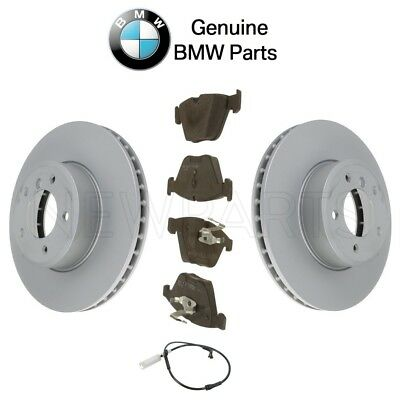 For BMW E60 E61 Pair Set of 2 Front Vented Disc Brake Rotors Genuine 34116864906