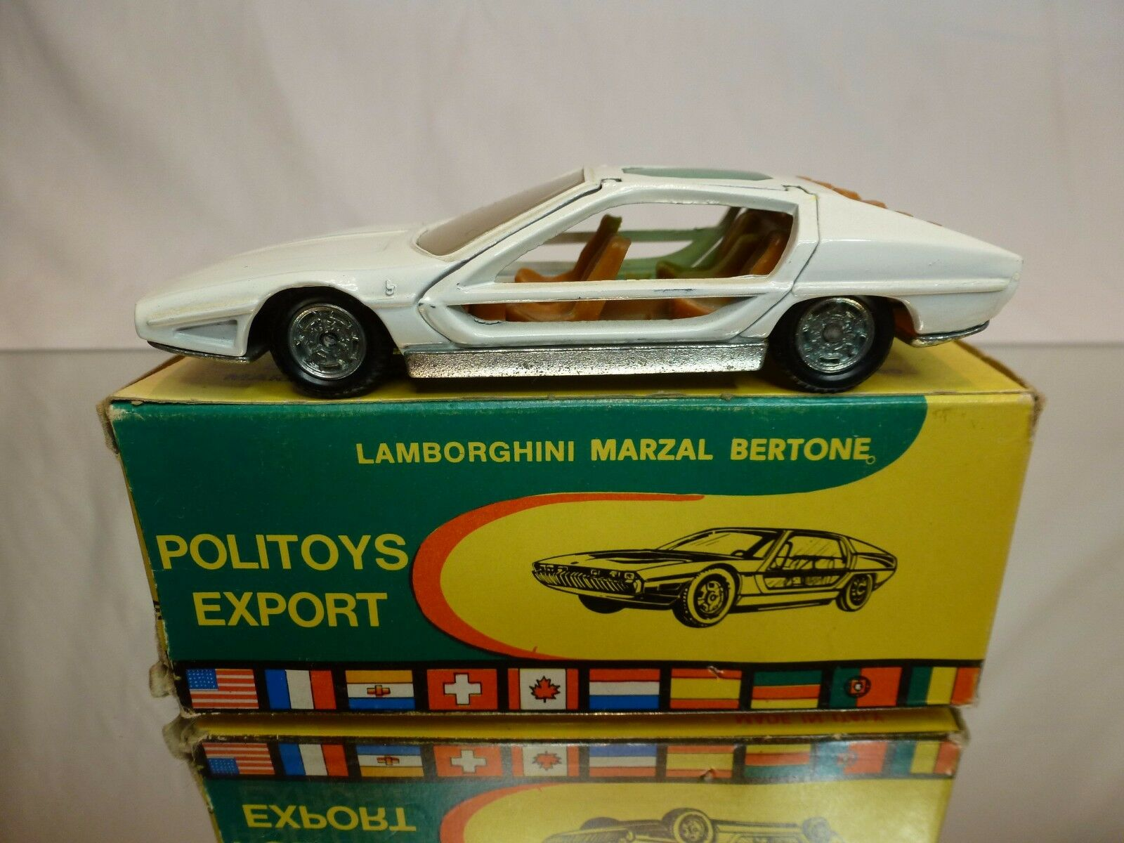 POLITOYS 568 LAMBORGHINI MARZAL BERTONE - OFF blanc 1 43 VERY RARE - GOOD IN BOX
