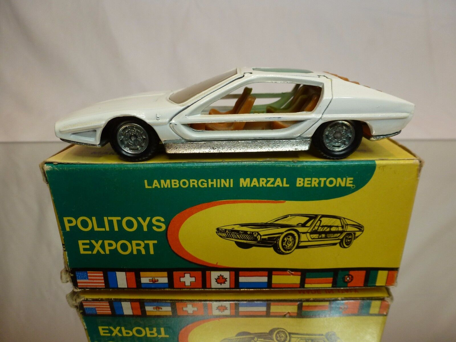 POLITOYS 568 LAMBORGHINI MARZAL BERTONE - OFF bianca 1 43 VERY RARE - GOOD IN BOX