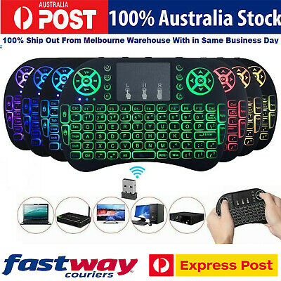 Details about  Wireless Mini Handheld Remote Keyboard with Touchpad Work Android TV Box Windows