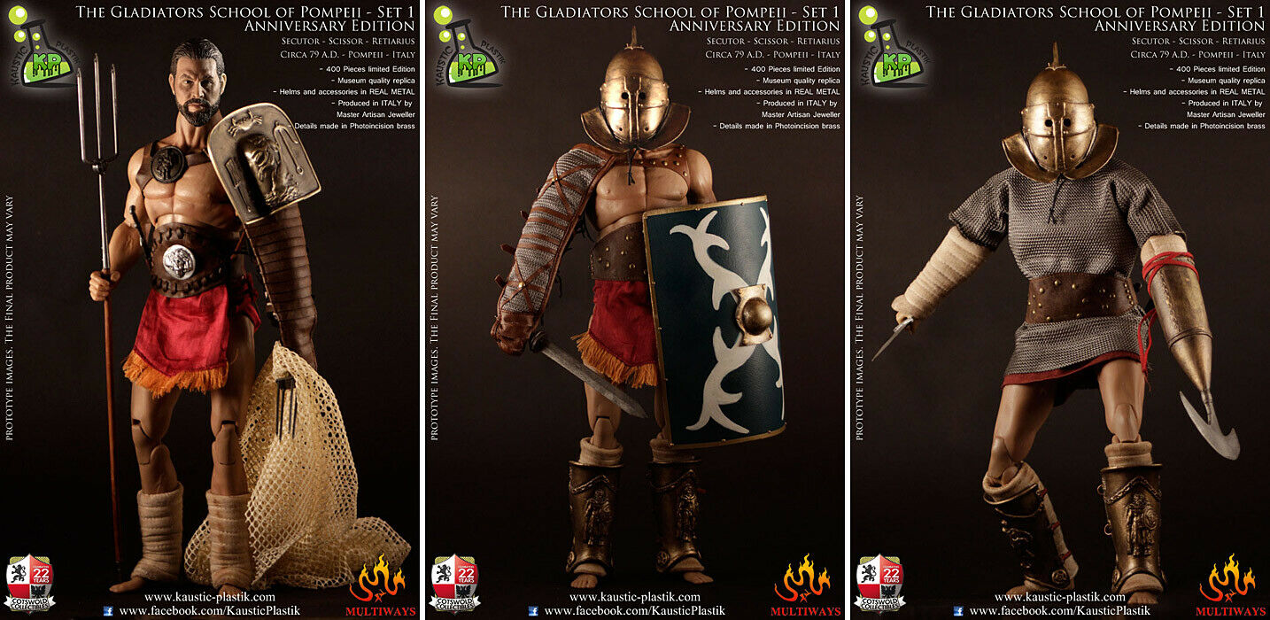 Kaustisk Plastik 1-årsjubileets upplaga Roman Gladiator School of Pompeji 1 6