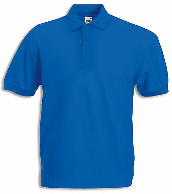 FRUIT OF THE LOOM POLOSHIRT 65/35 Pique Polo SHIRTS S M L XL XXL 3XL 4XL 5XL NEU