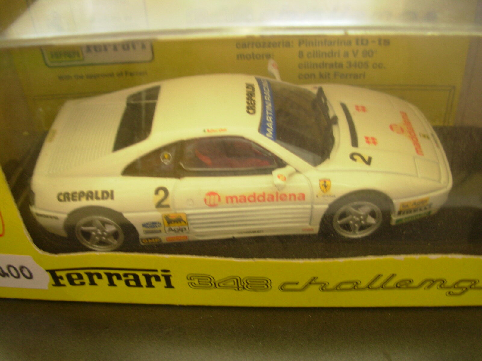 BANG 1 43 MADE IN ITALY AUTO DIE CAST FERRARI 348 CHALLENGE G. GIUDICI ART. 9302