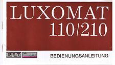 Eine Bedienungsanleitung für DDR-Fernsehgerät Luxomat 110/210