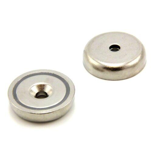 bis zu 40 kg Rundmagnet 2 X Neodym Magnet superstark mit Chromblende ca 32 mm