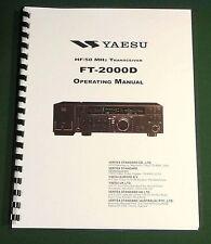 Yaesu FT-2000D Instruction Manual - Premium Card Stock Covers & 32lb Paper!