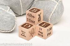 NUOVO Born Baby regalo personalizzato Building Blocks per battesimo,