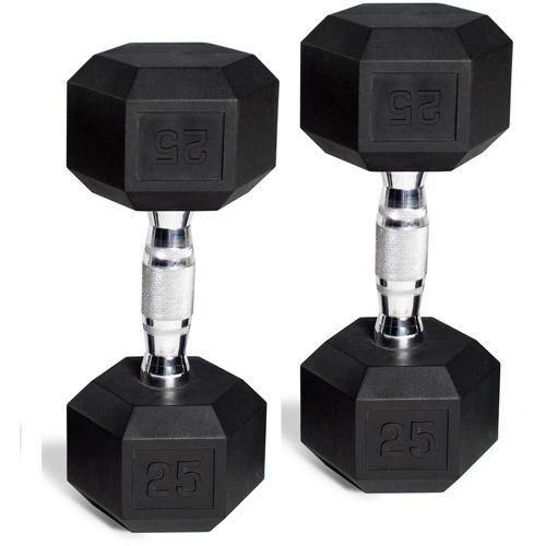 CAP Barbell Rubber-Coated Hex Dumbbells, Set of 2 35lbs