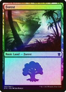 FOIL Khans of Tarkir PLD-SP Basic Land MAGIC MTG CARD ABUGames 253 Plains