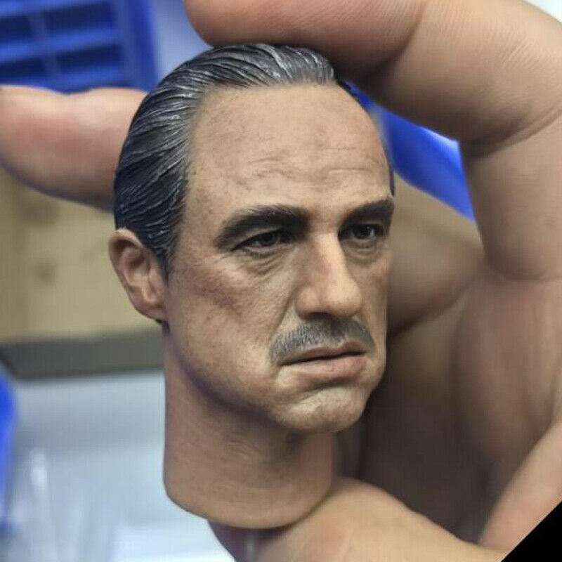 The Godfather Marlon Brando Head Sculpt 1 6 Fit 12'' Action Figure Burning Soul