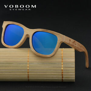 Luxus Bambus Holz Polarisiert Sonnenbrillen Carving Spiegelbein Brillen TA07-B