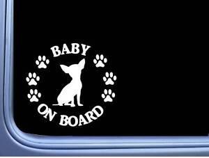 "Baby On Board Chihuahua L519 6 "" Aufkleber Hund Aufkleber"
