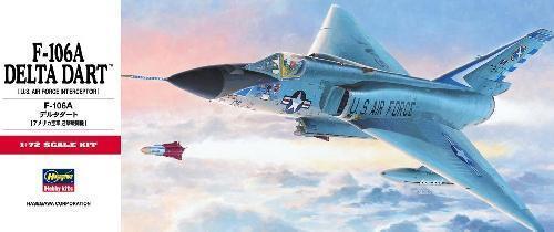 #C11//00341 1//72 Hasegawa RARE! UASF//ang marquage CONVAIR F-106 DELTA DART