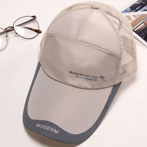 Hommes Extérieur à séchage rapide Visière Casquettes Sport Cool Summer Running Baseball Mesh Hat