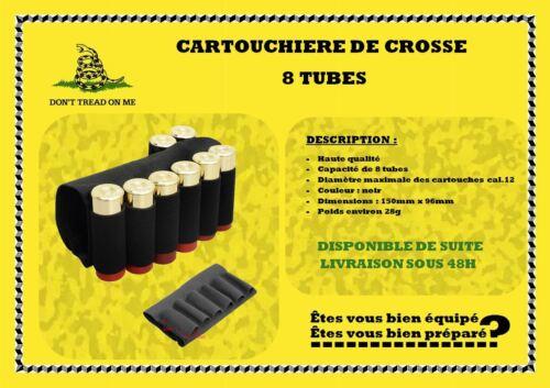 Cartouchière de crosse 8 tubes