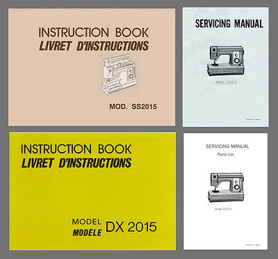 SS2015 or DX2015 Janome New Home Instruction or Service manual /& Parts PDF