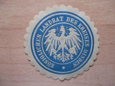 (12027) Siegelmarke - Landrat Des Kreises Minden Verkaufspreis