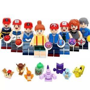8-PERSONAJES-8-POKEMON-LOTE-ENTERO-ESTILO-LEGO-100-COMPATIBLES