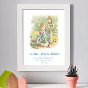Christmas Christening.Details About Personalised Peter Rabbit Christmas Christening Nursery New Baby Print