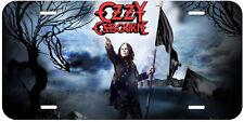 Ozzy Osbourne Black Flag Novelty Metal Car License Plate