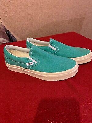 Vans Slip On Neptune Green Canvas Shoes