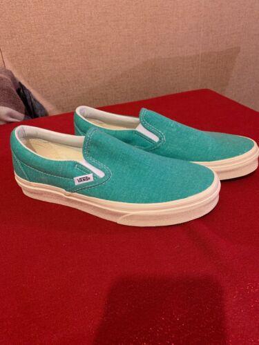 Vans Green Shoes On Neptune nunca Slip Patinaje Uk usado 4 Canvas nuevo y rCqrf
