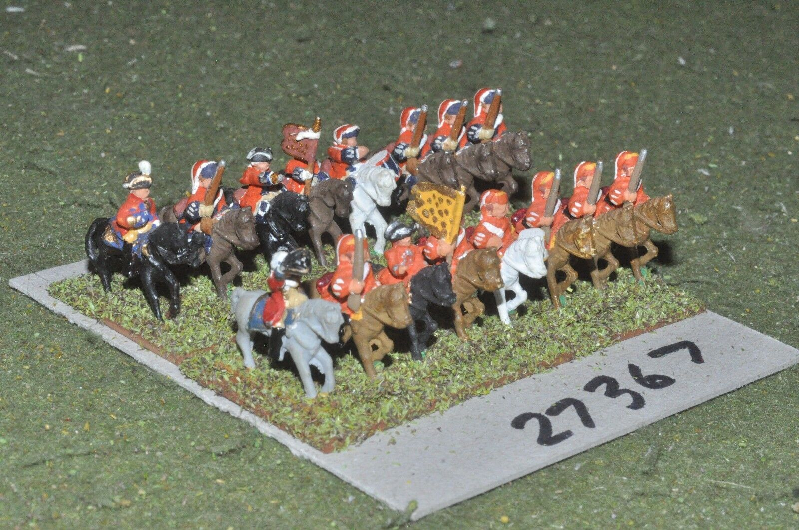 15mm 7YW   french - dragoons 16 figures - cav (27367)