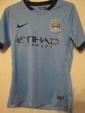 Manchester City 2014-2015 Player Issue Home Football Shirt Size Medium /35232