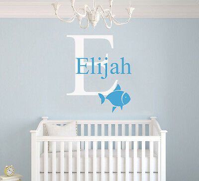 Custom Name Initial Nautical Nursery Decor Vinyl Wall Art Decal Decals Ebay