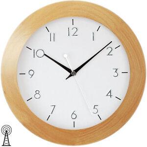 AMS-Funk-Wanduhr-Uhren-Buche-Mineralglas-Neu