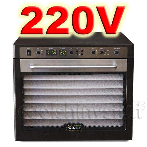 Tribest Sedona Combo SD-P9150 220V-240V Raw Food Deghydrator 9 Trays, BPA-Free