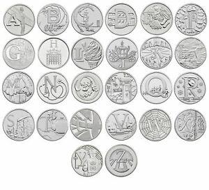 2018 A-Z 10p MONETE UNC DA ROYAL Nuovo di zecca Alfabeto dalla A alla Z Dieci Penny scegliere lettera