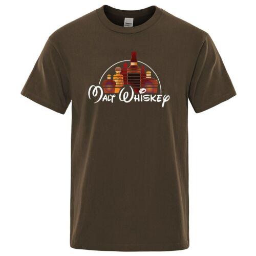 2019 nouveau été Cool T-Shirt hommes à manches courtes Malt whisky T-Shirt
