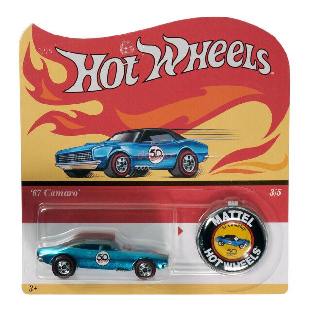 Hot Wheels 2018 50th Anniversary Redline Replica '67 Camaro Die-Cast